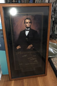 Framed Lincoln Perseverance poster