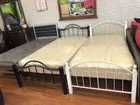 Twin bed with mattress new for $