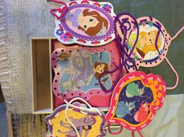 Melissa and Doug Disney Sofia the First Wooden Lacing Cards