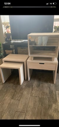 Nightstand side/ nesting/ accent table. NEW SOLID WOOD