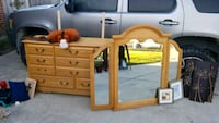 brown wooden dresser with mirror Corpus Christi, 78410