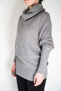 Light grey cowl turtleneck sweater Toronto