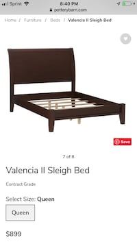 Pottery Barn Valencia Sleigh Bed Somerville, 02143
