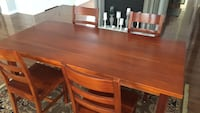 Crate and barrel dining table and 4 chairs Aldie, 20105
