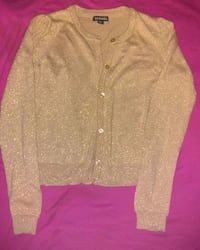 Girls gold button up sweater Mobile, 36693