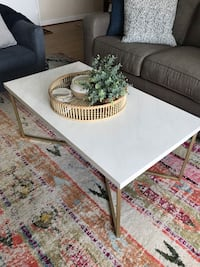 White and Gold Coffee Table Chevy Chase, 20815