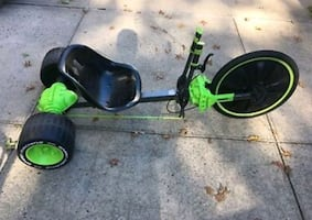 black and green kick scooter