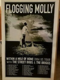 Flogging Molly Within A Mile of Home Tour Poster Lebanon, 17042