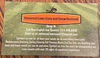 Any lawn service you need we can do!  Arlington Heights