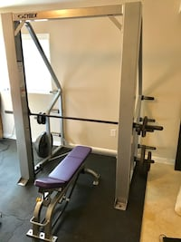 Commercial Cybex Smith Machine with Cybex bench and weights Purcellville, 20904