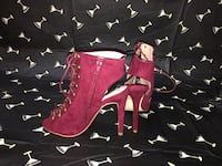 Women's wine red laced up heels Brockton, 02301