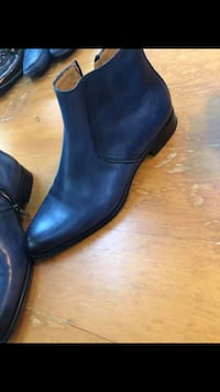 pair of black leather boots Surrey, V3Z 9Z2