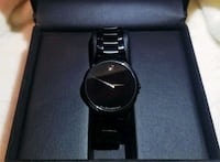 "MOVADO BLACK ""SERIO"" CRYSTAL BRACELET WATCH Ashburn"