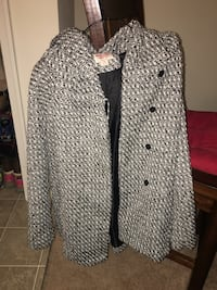 black and gray button-up coat Stafford, 22554