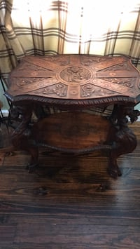 hand carved antique intricate side table Bayville, 11709