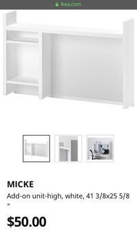 Micke Shelving for desk Alexandria, 22306