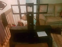 black wooden TV stand with mount Montréal, H2A 1W7