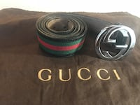 black Gucci leather belt with silver buckle Long Beach, 11561