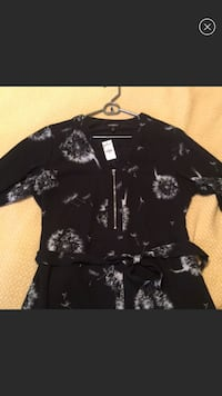 Black and white floral button-up jacket Austin, 78729