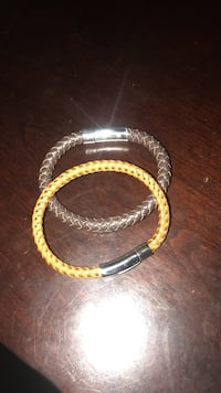 Two brown and coffee brown bracelet
