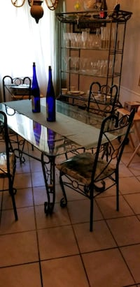 Table and Wine rack CASH ONLY The Village, 73120