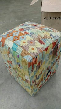 Hand Knotted pouf  219 mi