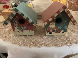 Christmas bird house decorations
