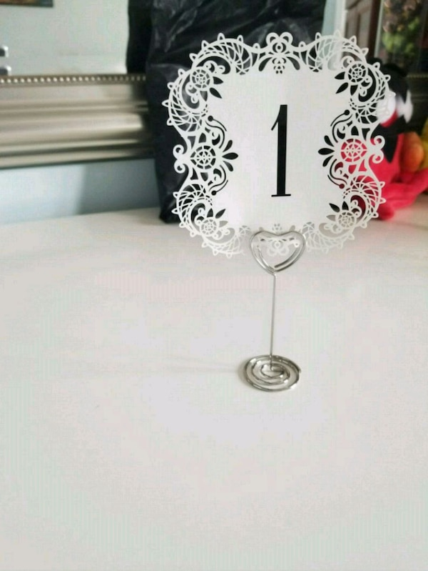 1-20 laser cut table numbers + holders