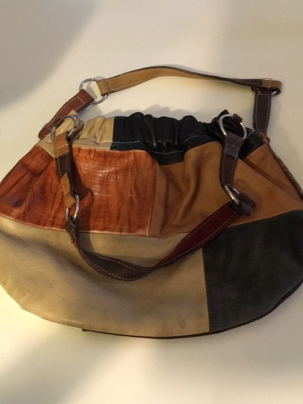 afd066c4f57f Used brown and black leather hobo bag for sale in San Jose - letgo