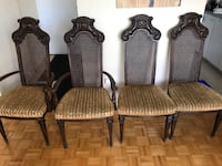 four brown wooden framed gray padded chairs Toronto, M4X 1P1