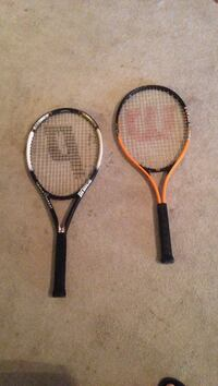 Two orange and black tennis rackets Myrtle Beach, 29577