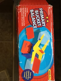 Blue and red plastic toy