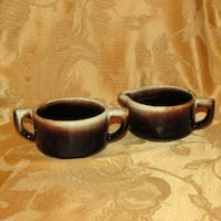 Pfaltzgraff Gourmet Brown Stoneware Cream & Sugar Mississauga