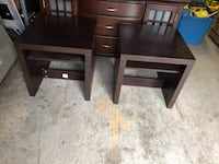 two brown wooden side tables Mississauga, L5A