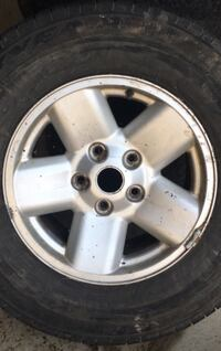 17 inch rims with tires. Two tires are shot two aren't bad. $20 came off of Dodge Ram. Brampton, L6V 0V5