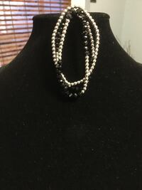 beaded silver-colored necklaces