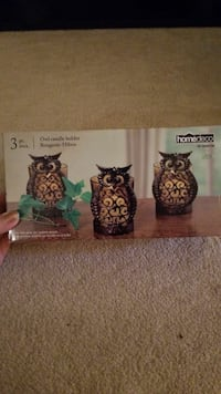 Cute tiny owl candle holders