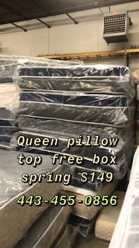 Queen pillow top FREE BOX SPRING  Baltimore, 21223