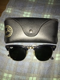 Black an gold club addition high end ray ban sunglasses Toronto