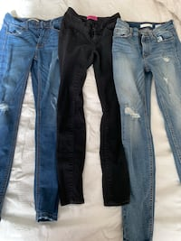 Size 3 high waisted jeans $15 for ALL Merced, 95341