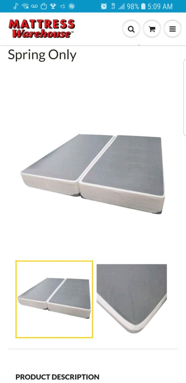 Used Split Box Spring Set For King Size Bed For Sale In Paterson Letgo