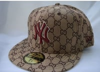 monogrammed brown Gucci New York Yankees fitted cap