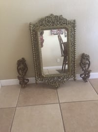 Mirror and candle holders Stockton, 95215