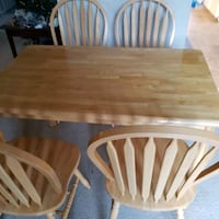 Kitchen Table and Four Chairs - solid wood from Malaysia Mississauga, L5L 2C5