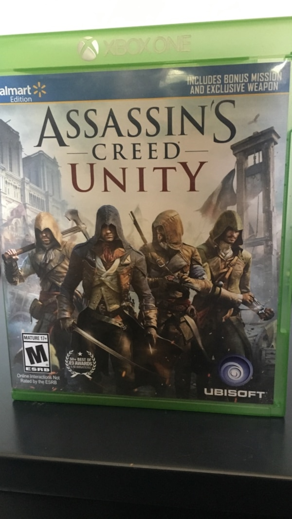 Assassin's Creed Unity Xbox one game case