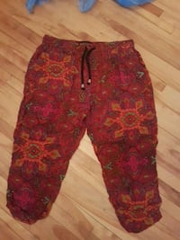 women's red and black floral pants Moncton
