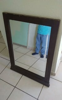 brown framed mirror Stockton, 95206