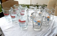 14 New Glass Beer Pitchers Coors LIght Blue Moon Florida