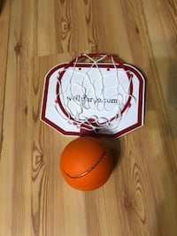 Basketball (Lights Up/uses batteries)and Foldable Door Goal