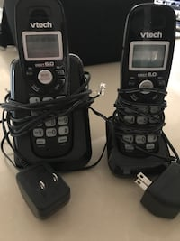 two black Vtech wireless home phones Toronto, M6M 3A6